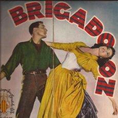 Cine: GUIA DE CINE-BRIGADOON-PORTADA ABIERTA-4 PAGINAS-CENTRAL A COLOR-ESPAÑOL-. Lote 28022409