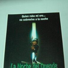 Cine: GUIA PUBLICITARIA ORIGINAL - LA NOCHE DEL DUENDE - LEPRECHAUN - JENNIFER ANISTON WARWICK DAVIS. Lote 278394823