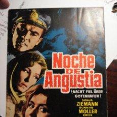 Cine: 104 NOCHE DE ANGUSTIA SONJA ZIEMANN GUNNAR MOLLER GUIA PUBLICITARIA PELICULA 1964. Lote 28200535