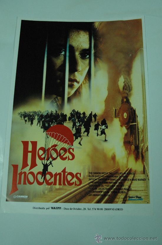 HEROES INOCENTES - MARUSCHKA DETMERS - GUIA ORIGINAL - LOTE 20 GUIAS POR 30 EUROS (Cine - Guías Publicitarias de Películas )