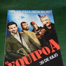 Cine: EL EQUIPO A. PROBLEMA RESUELTO - FICHA ARTISTICA/TECNICA. Lote 28324038