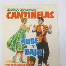 Cine: GUIA DE CINE PELICULA ORIGINAL MARIO MORENO CANTINFLAS SUBE Y BAJA .. Lote 29291109