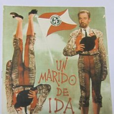 Cine: CINE FERNANDO FERNAN GOMEZ UN MARIDO DE IDA Y VUELTA GUIA ORIGINAL DE LA PELICULA.. Lote 29291154