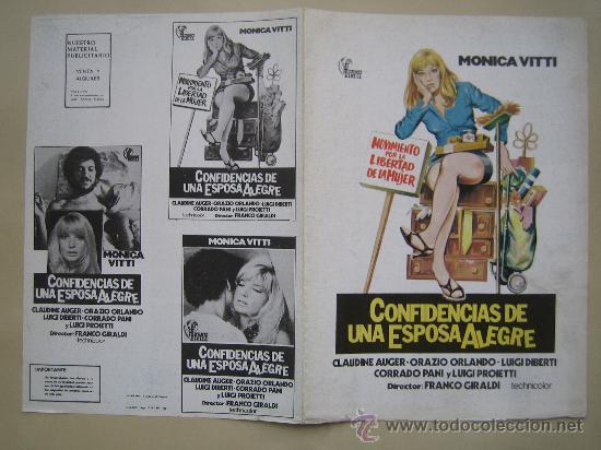 CONFESIONES DE UNA ESPOSA ALEGRE MONICA VITTI - GUIA PUBLICITARIA ORIGINAL ESTRENO (Cine - Guías Publicitarias de Películas )