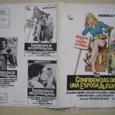 Cine: CONFESIONES DE UNA ESPOSA ALEGRE MONICA VITTI - GUIA PUBLICITARIA ORIGINAL ESTRENO. Lote 29386662