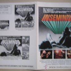 Cine: INSEMINOID - GUIA PUBLICITARIA ORIGINAL ESTRENO NO ENTRA EN LOTES. Lote 29650527