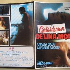 Cine: CARTAS DE AMOR DE UNA MONJA - GUIA PUBLICITARIA ORIGINAL ESTRENO - ANALIA GADE LINA ROMAY. Lote 29661052