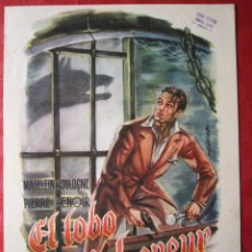 Cine: GUIA DE CINE. EL LOBO DE MALVENEUR. SINOPSIS AL DORSO. AÑOS 40. 23 X 33 CM.. Lote 29738526