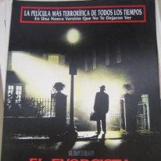 Cine: EL EXORCISTA EL MONTAJE DEL DIRECTOR- GUIA PUBLICITARIA ORIGINAL WILLIAM FRIEDKIN MAX VON SYDOW. Lote 29773327