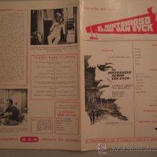Cine: EL MISTERIOSO SEÑOR VAN EYCK- GUIA PUBLICITARIA ORIGINAL ESTRENO MASSIMO GIROTTI ESPARTACO SANTONI. Lote 29818851