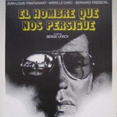 Cine: EL HOMBRE QUE NOS PERSIGUE GUIA PUBLICITARIA ESTRENO LOTE 20 GUIAS 30 EUROS. Lote 29886148