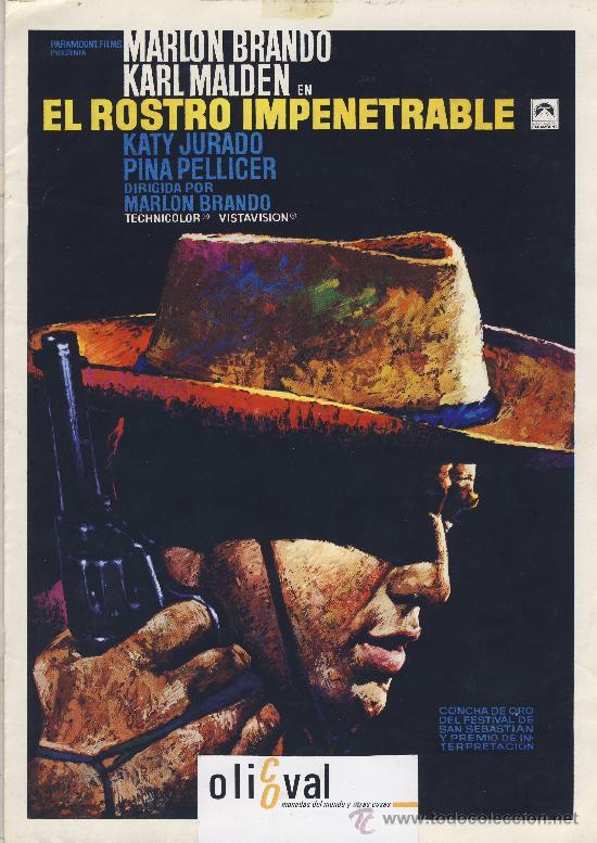 GUIA DE CINE TAMAÑO 300 X 210 2 H DOBLE CARA -EL RESTO IMPENETRABLE -MARLON BRANDO-KARL MALDEN- (Cine - Guías Publicitarias de Películas )