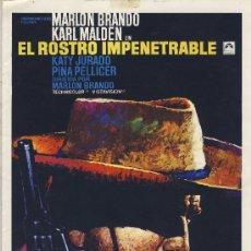Cine: GUIA DE CINE TAMAÑO 300 X 210 2 H DOBLE CARA -EL RESTO IMPENETRABLE -MARLON BRANDO-KARL MALDEN-. Lote 30019166