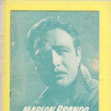 Cine: GUIA DE CINE TAMAÑO 245 X 170 8 H DOBLE CARA -LA LEY DEL SILENCIO-MARLON BRANDO-1ª VENECIA 1954. Lote 30019507