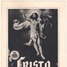 Cinéma: G3850 CRISTO CIFESA DOCUMENTAL CINE RELIGIOSO GUIA ORIGINAL CIFESA ESTRENO. Lote 30100575