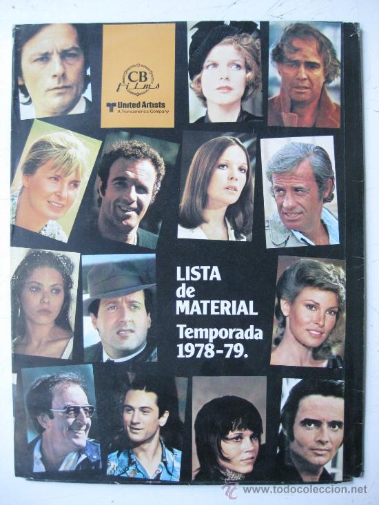 CB FILMS, UNITED ARTISTS - LISTA DE MATERIAL TEMPORADA 1978-79 - 22 GUIAS - VER FOTOS ADICIONALES (Cine - Guías Publicitarias de Películas )