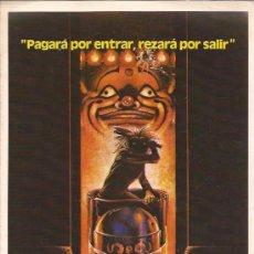 Cine: GUIA DE CINE-LA CASA DE LOS HORRORES-TOBE HOPPER. Lote 31091474
