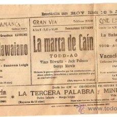 Cine: PUBLICIDAD CINE 1970.. Lote 31096195