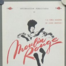 Cine: G4192 MOULIN ROUGE JOHN HUSTON GUIA ORIGINAL ROSA FILMS R-65. Lote 31180982
