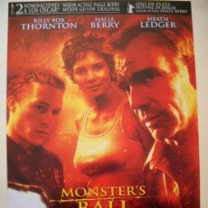Cinéma: MONSTER'S BALL - MARC FORSTER, 2001. Lote 31220883