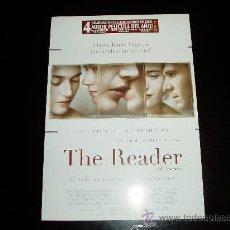 Cinema: THE READER. EL LECTOR. GUIA PUBLICITARIA SENCILLA ORIGINAL DE LA PELICULA.. Lote 146023464