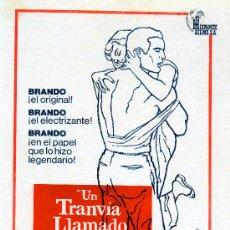Cine: UN TRANVIA LLAMADO DESEO 1951(GUIA ORIGINAL 4 PAGINAS CON FOTOS) (PRESS BOOK) MARLON BRANDO. Lote 31353049