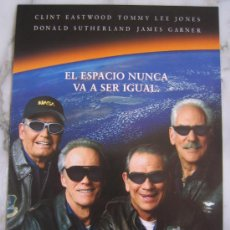 Cine: SPACE COWBOYS CLINT EASTWOOD - GUIA PUBLICITARIA ORIGINAL ESTRENO. Lote 31378525