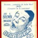 Cine: GUIA CINE, ARAJOL , EN TIGRE DEL RING , DIPTICO AGUJEREADA , ORIGINAL ,G938. Lote 31726482