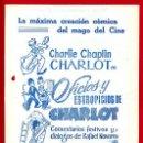 Cine: GUIA CINE, ARAJOL , OFICIOS Y ESTROPICIOS DE CHARLOT , DIPTICO AGUJEREADA , ORIGINAL ,G939. Lote 31726494