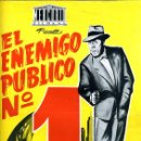 Cine: GUIA CINE, MERCURIO , EL ENEMIGO PUBLICO Nº 1 , DIPTICO , ORIGINAL ,G1002. Lote 31734239