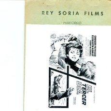Cine: GUIA PUBLICITARIA PELICULA EL TERCER DIA. Lote 31848332