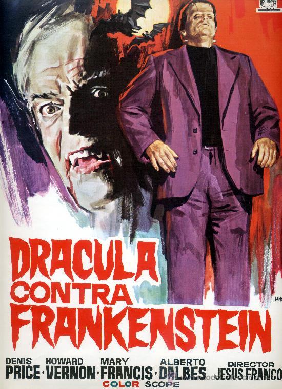 DRACULA CONTRA FRANKENSTEIN 1972(GUIA ORIGINAL ESTRENO EN ESPAÑA)TERROR DE CULTO JESUS FRANCO (Cine - Guías Publicitarias de Películas )