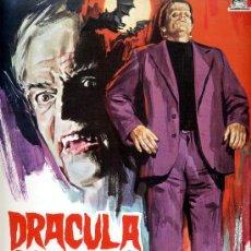 Cine: DRACULA CONTRA FRANKENSTEIN 1972(GUIA ORIGINAL ESTRENO EN ESPAÑA)TERROR DE CULTO JESUS FRANCO . Lote 31908569