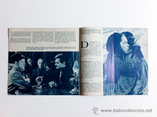 Cine: Doktor Schiwago (Doctor Zhivago) - Guia Original Germany 1965 - Illustrierter Film-Kurier #208 - Foto 3 - 32011357