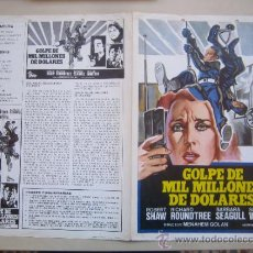 Cine: GOLPE DE MIL MILLONES DE DOLARES - GUIA PUBLICITARIA ORIGINAL ESTRENO ROBERT SHA RICHARD ROUNDTREE. Lote 32041223