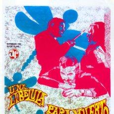 Cine: UNA LIBELULA PARA CADA MUERTO 1974 (GUIA ORIGINAL 4 PAGINAS CON FOTOS) GIALLO DE CULTO PAUL NASCHY. Lote 108821199