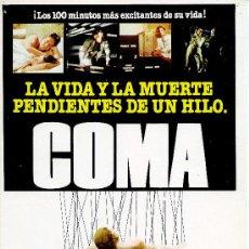 Cine: GUIA PUBLICITARIA PELICULA COMA. Lote 32125301