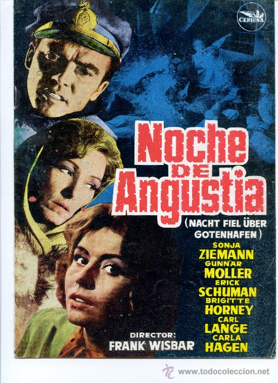 GUIA PUBLICITARIA PELICULA NOCHE DE ANGUSTIA (Cine - Guías Publicitarias de Películas )