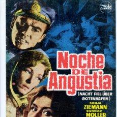 Cine: GUIA PUBLICITARIA PELICULA NOCHE DE ANGUSTIA. Lote 32140302