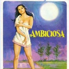 Cine: GUIA PUBLICITARIA PELICULA AMBICIOSA. Lote 32164858