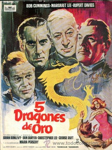 5 DRAGONES DE ORO (Cine - Guías Publicitarias de Películas )