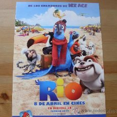 Cine: RIO - ANIMACION - DIR. CARLOS SALDANHA - GUIA ORIGINAL AÑO 2011. Lote 32358726