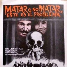 Cine: MATAR O NO MATAR, ESTE ES EL PROBLEMA. Lote 32388381