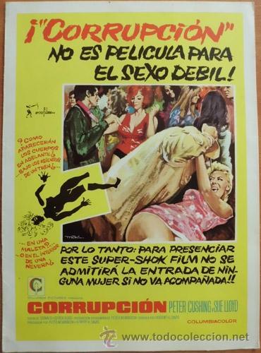 CORRUPCIÓN (Cine - Guías Publicitarias de Películas )