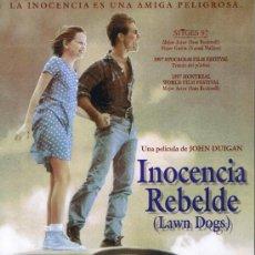 Cine: GUIA PUBLICIDAD - INOCENCIA REBELDE - FOTOS - SINOPSIS - FICHA ARTÍSTICA Y TÉCNICA . Lote 32835733