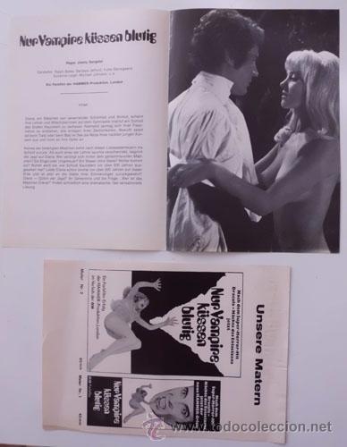 LUST FOR A VAMPIRE (LUJURIA PARA UN VAMPIRO) (Cine - Guías Publicitarias de Películas )