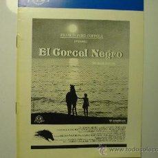 Cine: GUIA EL CORCEL NEGRO FORD COPPOLA 8 PAG.. Lote 33037834