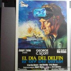 Cine: GUIA PELICULA EL DIA DEL DELFIN.- GEORGE SCOTT. Lote 33288426