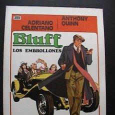 Cine: BLUFF (LOS EMBROLLONES), GUIA DE CINE DE 4 PAGINAS (9). Lote 33399564