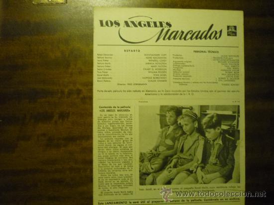 GUIA PELICULA METRO 4 PAG. LOS ANGELES MARCADOS (Cine - Guías Publicitarias de Películas )